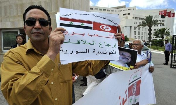 نشطاء من تونس وسورية يطالبون بإعادة العلاقات الدبلوماسية بين البلدين