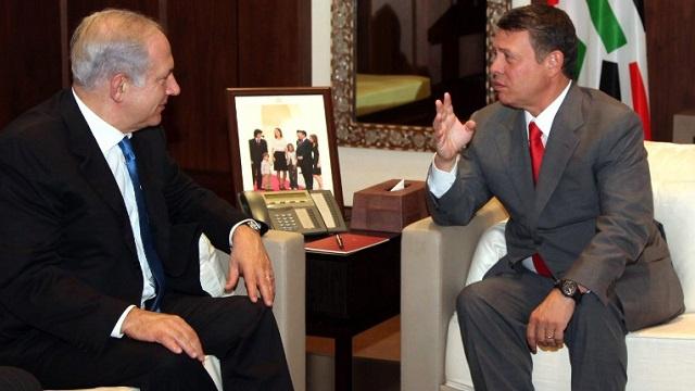 ملك الأردن يبحث عملية السلام مع رئيس الوزراء الإسرائيلي