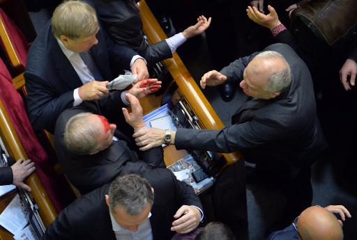 المعارضة الاوكرانية تصف الاحداث في البرلمان بـ
