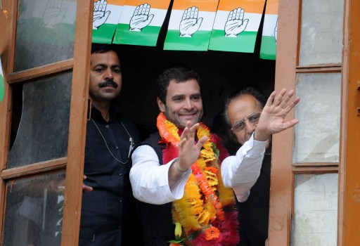 رؤول غاندي يقود حملة حزب المؤتمر الحاكم في الهند بالانتخابات العامة