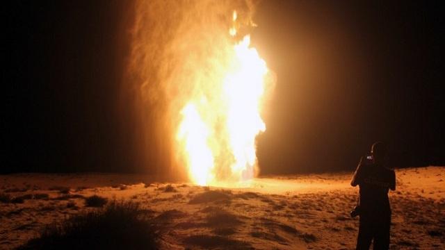 تفجير خط أنابيب لنقل الغاز في سيناء بمصر