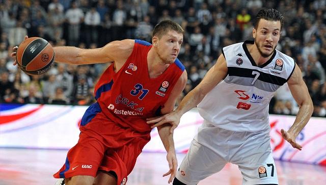 بارتيزان بلغراد يهزم تسيسكا موسكو في الدوري الأوروبي بكرة السلة