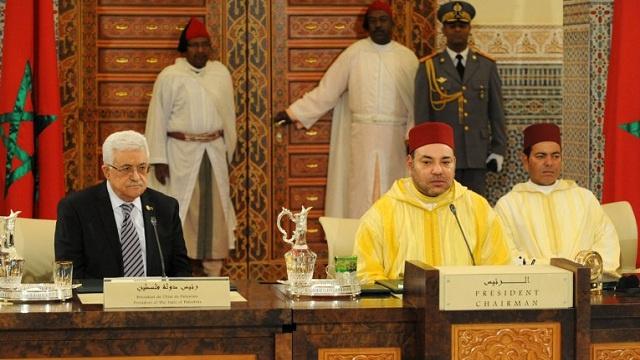 العاهل المغربي يدين الاستيطان وعباس يتهم اسرائيل بـ