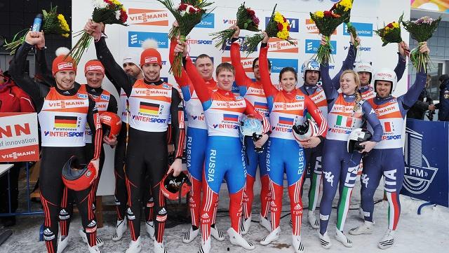 روسيا تتوج بذهبية كأس العالم لرياضة الزحافات الثلجية