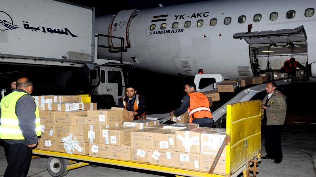 وصول دفعة مساعدات جديدة من روسيا الى سورية