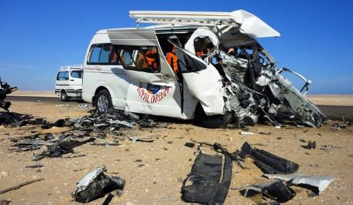 مصرع 19 شخصا في حادث سير في جنوب مصر