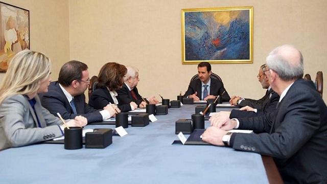 الأسد يكلف الوفد الحكومي الى