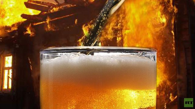الجعة تستخدم لإطفاء الحرائق ايضا