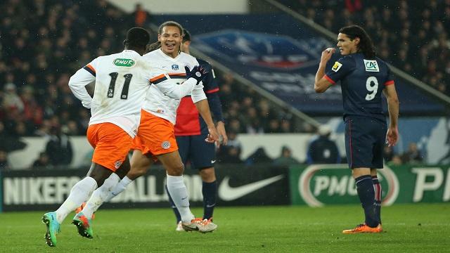 باريس سان جيرمان يودع كأس فرنسا بهزيمة أمام مونبيليه