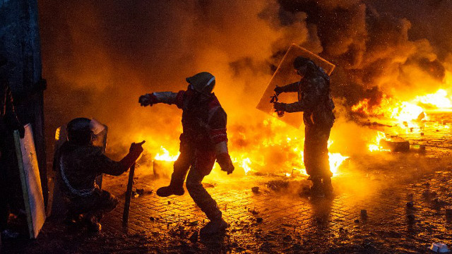 الداخلية الأوكرانية توقف نحو 100 شخص شاركوا في أعمال شغب بكييف