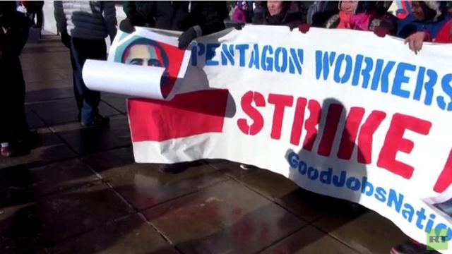 عمال البنتاغون يعلنون الإضراب (فيديو)