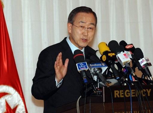 بان كي مون يرحب بمصادقة البرلمان التونسي على الدستور