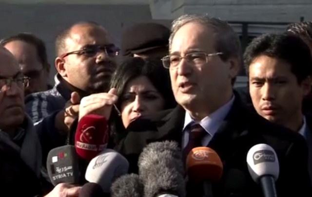 فيصل المقداد: المعارضة تدعم الإرهاب لقتل الشعب السوري