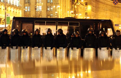 مقتل شرطي اوكراني متأثرا بجروح اصيب بها على يد محتجين متطرفين