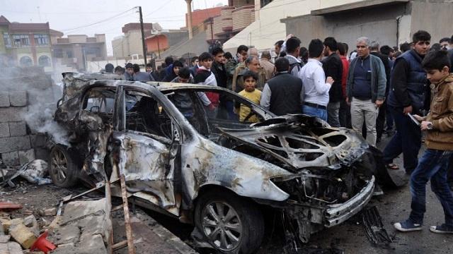 مقتل 5 وإصابة 18 حصيلة التفجير المزدوج في بغداد