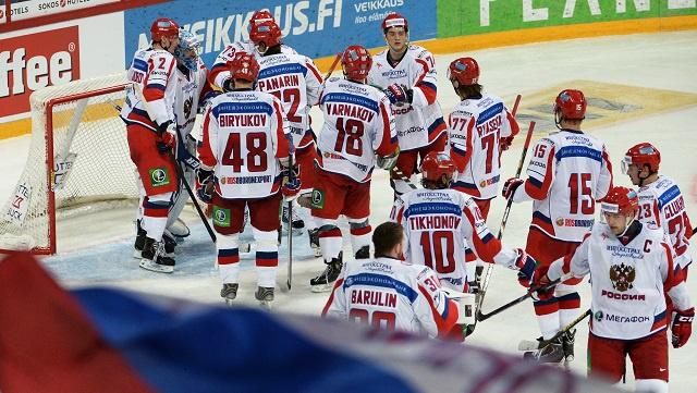 منتخب روسيا لهوكي الجليد يبدأ استعداداته لأولمبياد سوتشي 2014