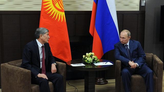 بوتين يبحث تعزيز التعاون مع نظيره القرغيزي ويؤكد زيادة التبادل التجاري بين البلدين