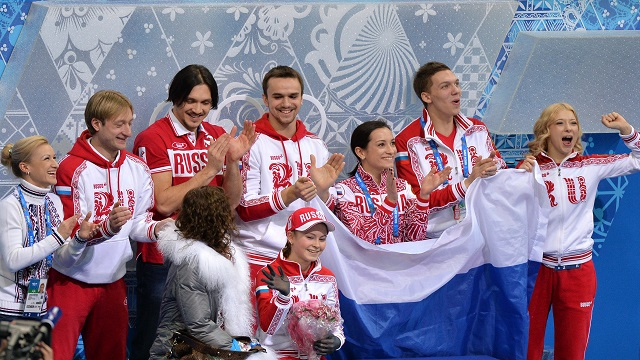 روسيا تحرز أول ذهبية في أولمبياد سوتشي الشتوية