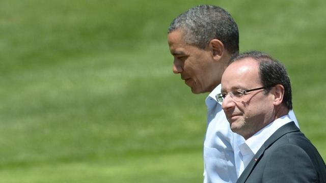 هولاند يزور واشنطن ويبحث مع أوباما ملفي سورية وإيران