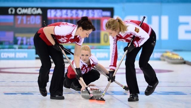 روسيا تفوز على أمريكا في مسابقة الكيرلينغ للسيدات في