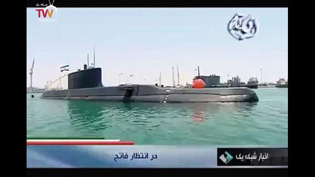 بالفيديو.. إيران تعرض غواصتها الجديدة
