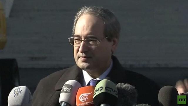 المقداد: المعارضة رفضت مناقشة موضوع الإرهاب اليوم