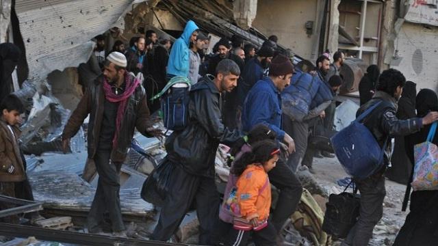 وقف عمليات إجلاء السكان من حمص بسورية