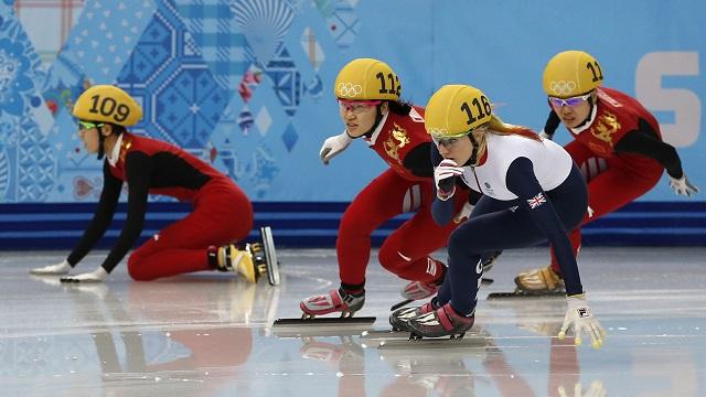 الصينية جيانرو تهدي الذهبية الأولى لبلادها في أولمبياد سوتشي 2014