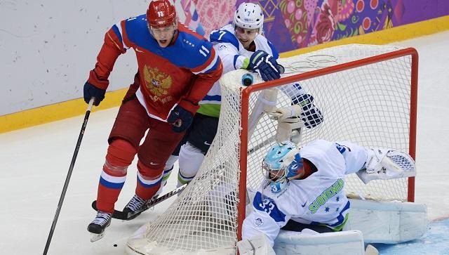 سوتشي 2014 .. روسيا تفوز على سلوفينيا بالهوكي