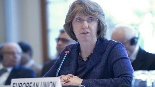 آشتون: يجب ايجاد حل للأزمة الأوكرانية بأسرع وقت