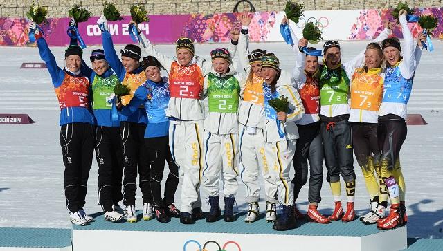 السويد تفتتح سجلها الذهبي في أولمبياد سوتشي 2014