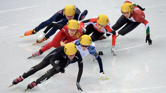 أولمبياد سوتشي .. الصين تهيمن على مسابقة التزحلق على المضمار القصير