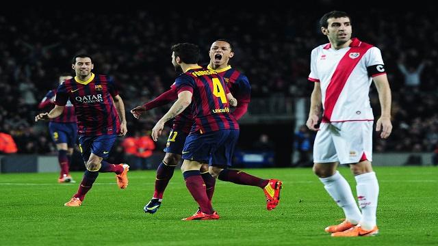 برشلونة يكرم رايو فاليكانو بنصف دستة من الأهداف