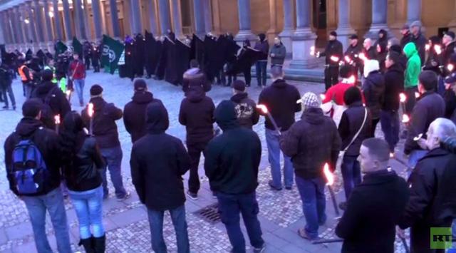 التشيك: متظاهرون من اليمين المتطرف يحيون ذكرى تفجير دريسدن (فيديو)