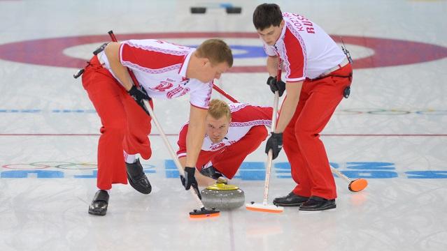 روسيا تخرج من دائرة المنافسة على جوائز مسابقة الكيرلينغ في سوتشي