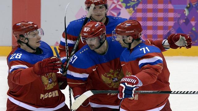منتخب روسيا للهوكي على الجليد يستعيد ذاكرة الانتصارات في سوتشي