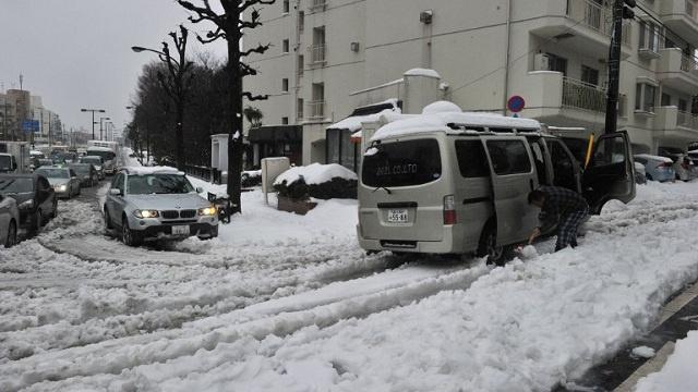 مصرع 19 شخصا وإصابة أكثر من 1500 بسبب العواصف الثلجية في اليابان (فيديو)