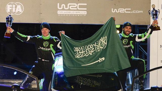 السعودي الراجحي يحرز المركز الأول في رالي روسيا ويرفض الشمبانيا