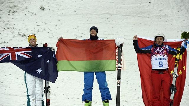البيلاروسي كوشنير يتوج بذهبية سوتشي في التزلج البهلواني