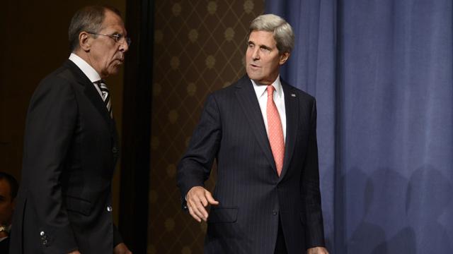 لافروف وكيري يبحثان هاتفيا الوضع في سورية