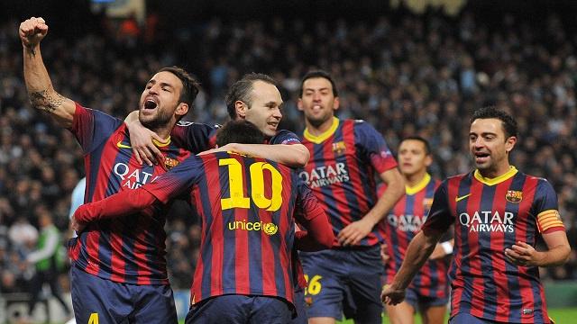 برشلونة يقترب من ربع نهائي التشامبيونزليغ بثنائية في شباك مانشستر سيتي