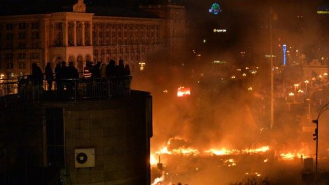 بان كي مون يعبر عن صدمته من تصاعد العنف في كييف