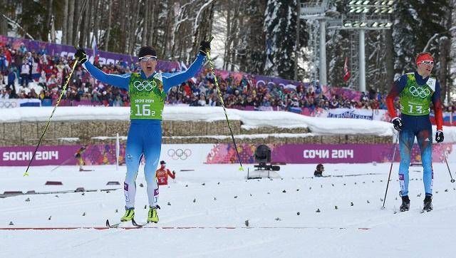 فنلندا تنتزع ذهبية مسابقة التزلج السريع التقليدي من روسيا في سوتشي