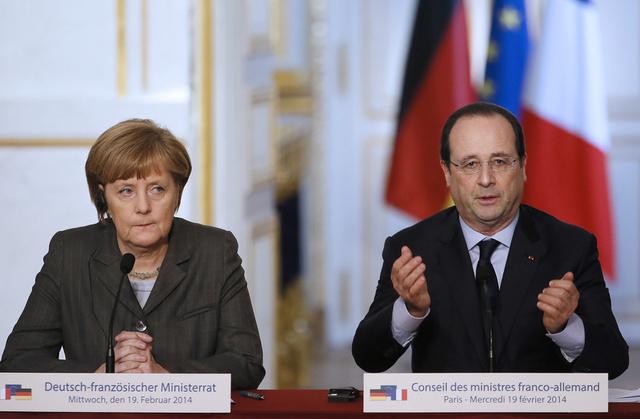 فرنسا وألمانيا تدينان أعمال العنف في أوكرانيا وتصفانها بغير المقبولة