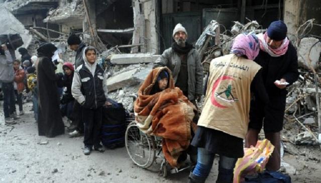 وصول دفعة جديدة من المساعدات الإنسانية إلى مخيم اليرموك في سورية