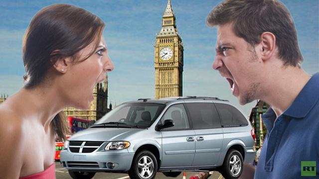 السيارة هي المكان الأمثل للمشاجرات العائلية في بريطانيا