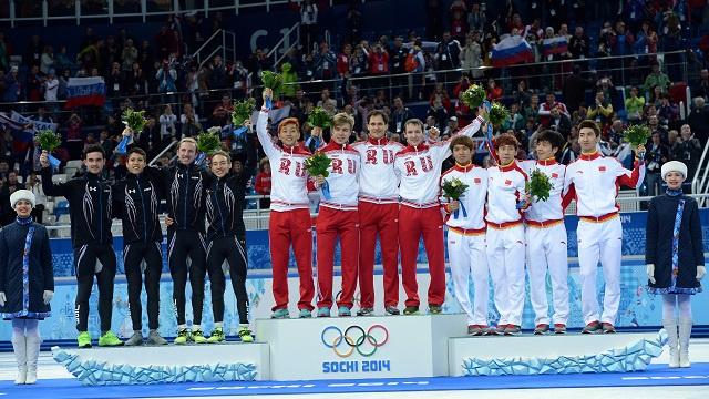 بالصور .. أبطال اليوم الرابع عشر في أولمبياد سوتشي 2014