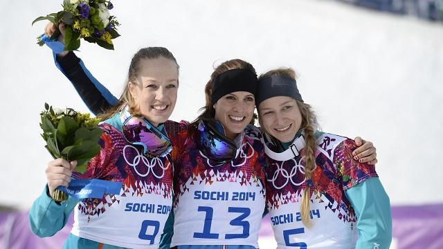 النمساوية دويموفيتس تحرز ذهبية أولمبياد سوتشي في سباق التعرج المتوازي
