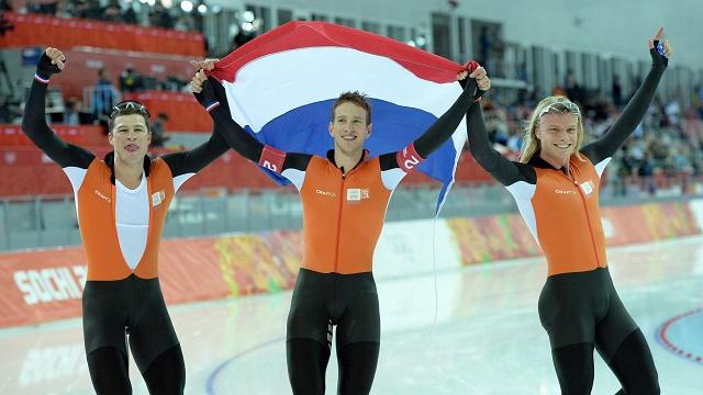 هولندا تثبت علو كعبها في التزحلق السريع في أولمبياد سوتشي