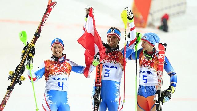 أولمبياد سوتشي .. ذهبية وفضية سباق التعرج للرجال إلى النمسا